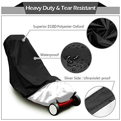 2win2buy Lawn Mower Cover Waterproof Heavy Duty Push Lawn Mower Covers,UV Dust Water Resistant Proof All Weather Resistant, Universal Fit with Drawstring and Storage Bag