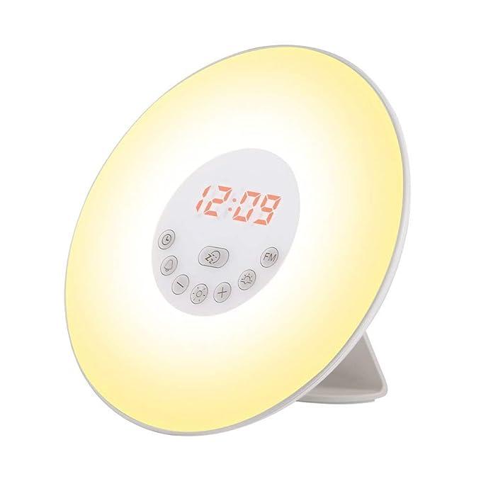 29 opinioni per Lampada Sveglia Luce Naturale,Sveglia da Comodino per Bambini con 7 Suoni di
