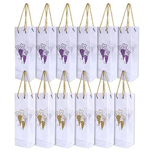 Santa Wine Bottle Gift Bags - 6