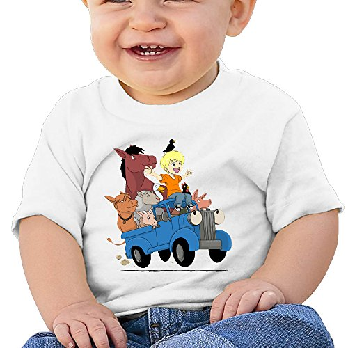 Price comparison product image Boss-Seller Little Blue Truck Short-Sleeve Shirt For 6-24 Months Newborn Baby Size 12 Months White