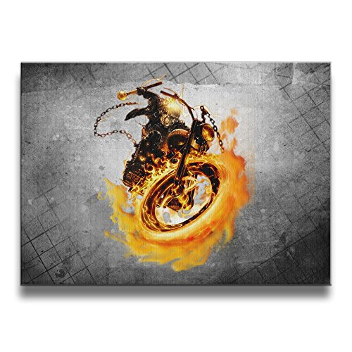 [Bekey Ghost Rider Logo Canvas Prints Artwork For Home Office Decorations Wall Decor For Living] (Captain Murphy Costume)