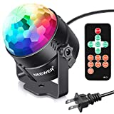 Neewer Mini LED Stage Light Sound Activated Party Light with Remote Control, RGB 7 Colors Strobe Light Disco Ball DJ Light for Christmas Xmas Festival Home KTV Bar Club Party Wedding Show Activities