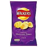 british potato crisps - Walkers Worcester Sauce Crisps 25g x 6 per pack
