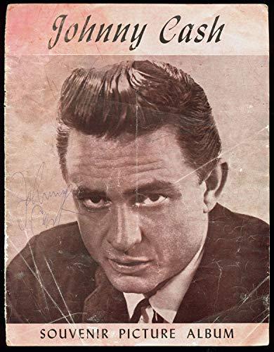 Johnny Cash Autographed Signed 85X11 Souvenir Picture Album Program Cover - Beckett Authentic