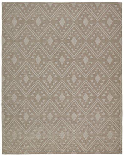 Stone & Beam Shooting Star Modern Diamond Wool Area Rug, 4' x 6', Taupe by Stone & Beam