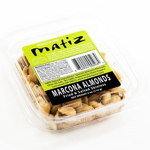 Spanish Marcona Almonds Fried and Salted in Olive Oil (4 oz.) Low Carb Snack, Keto and Paleo Friendly, Whole, 100% Natural Ingredients