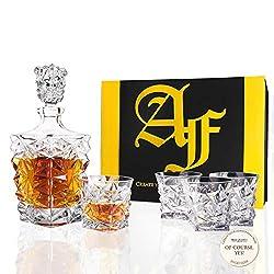 Long Island 5-Piece (1 Carafe + 4 Glasses) Crystal Set
