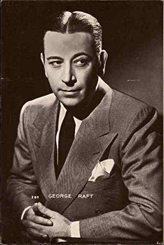George Raft Actors Original Vintage Postcard - George Raft Actor