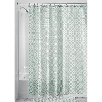 Amazon.com: Seafoam Green and Brown Newcastle Fabric Shower ...