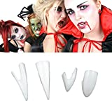 Horrific 4 Pcs Dress Vampire Teeth Halloween Party Dentures Props Vampire Zombie