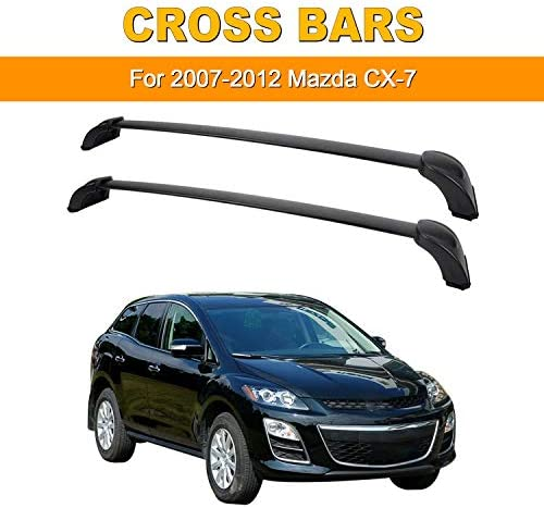 Amazon Com Auxmart Roof Rack Cross Bars Fit For Mazda Cx 7 2007 2008 2009 2010 2011 2012 Black Rooftop Luggage Rack Rail Replacement Aluminum Cargo Carrier Bars Automotive