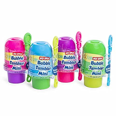 Set of 4 Little Kids No Spill Bubble Bucket Outdoor Spring Summer Play Time Children Toddlers Mini Boys Green Blue Purple & - Mini Bubble Bucket