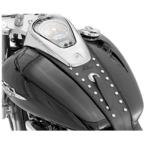 (Mustang Motorcycle Seats Studded Tank Bib for Yamaha 1999-2009 V-Star 1100 models - One Size)