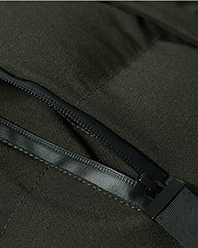 Ejército Prácticos verde Chaqueta Bolsillos Con El Hombres Jacket Capucha SwpBq