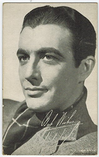 Exhibit Robert Taylor Arcade Card: BW 1940s (13mm MADE IN U.S.A.) Series