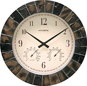 Wall Clock with Thermometer
