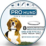 Flea and Tick Collar for Dogs - Natural Protection - Stops Bites - Itching - Protect from Insects - Larvae - Eggs and More - 8 MONTH Protection - Hypoallergenic - Waterproof - & Fully Adjustable