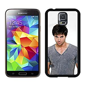 Enrique Iglesias Black Samsung Galaxy S5 Screen Cover Case Newest and Fashion Design