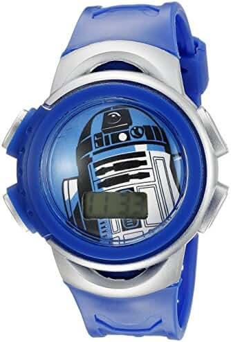 Star Wars Kids' R2-D2 Digital Display Quartz Blue Watch