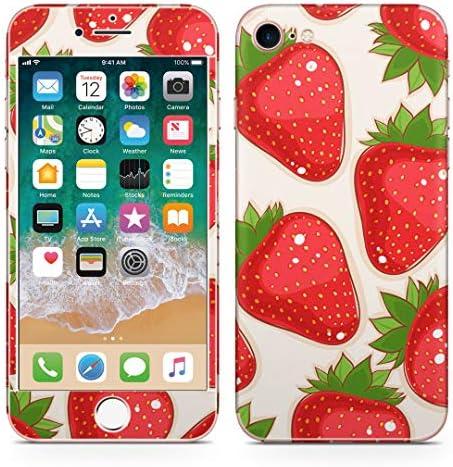 igsticker iPhone SE 2020 iPhone8 iPhone7 専用 スキンシール 全面スキンシール フル 背面 側面 正面 液晶 ステッカー 保護シール 006119 その他 イチゴ 苺 イラスト 模様