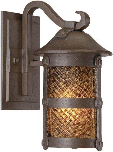 Wall 13w Cfl (Minka Outdoor 9251-A199-PL, Lander Heights Outdoor Wall Sconce Lighting, 13 Watts CFL, Bronze)