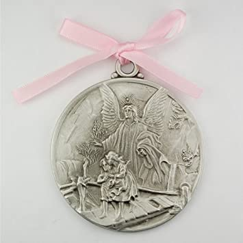 bautizo is itm loading pendant charm solid mi image rose white gold baptism medallion s yellow