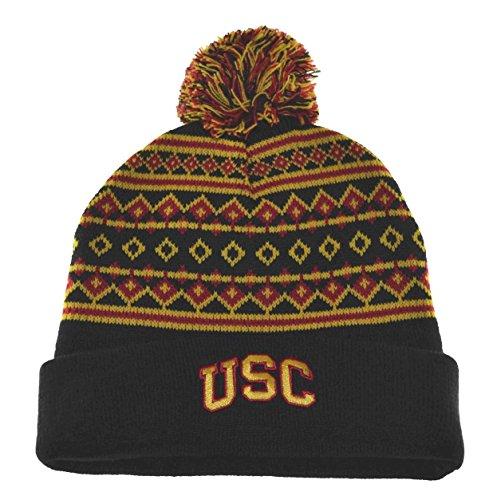 NCAA USC Trojans Pom Pom Pop Knit Beanie Black by UCS