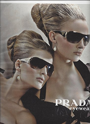 2 PagePRINT AD For 2009 Prada Sunglasses With Blondes In - Prada Ad Sunglasses