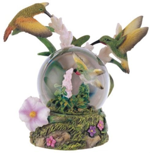 Hummingbird Statue (Snow Globe Hummingbird Collection Desk Figurine Decoration)