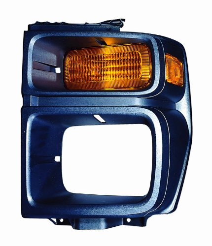 For 2008 2009 2010 2011 2012 Ford Econoline Van Headlight Headlamp Assembly Fog Light Bezel Cover Driver Left Side Replacement Capa Certified FO2524103