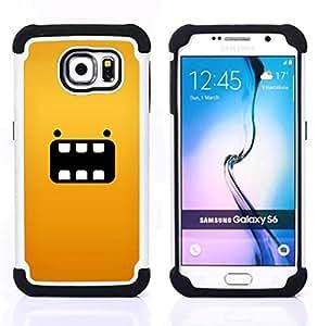 """Pulsar ( Personaje de dibujos animados Animal Amarillo"""" ) Samsung Galaxy S6 / SM-G920 SM-G920 híbrida Heavy Duty Impact pesado deber de protección a los choques caso Carcasa de parachoques [Ne"""