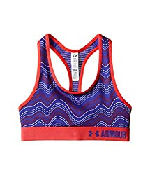 Under Armour Girls' HeatGear Armour Printed Sports Bra, Pink/Pink, Youth Small