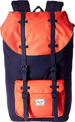 Herschel Supply Co. Little America Backpack, Peacoat/Hot Coral/Peacoat Rubber