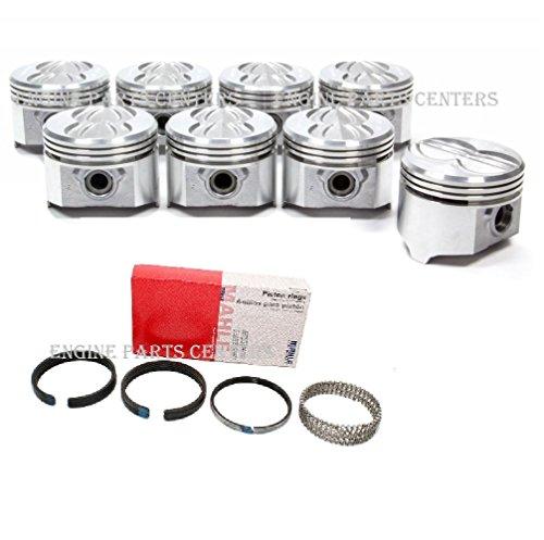 Pontiac 400 Sealed Power Flat Top Pistons Set (8)+Rings +.030