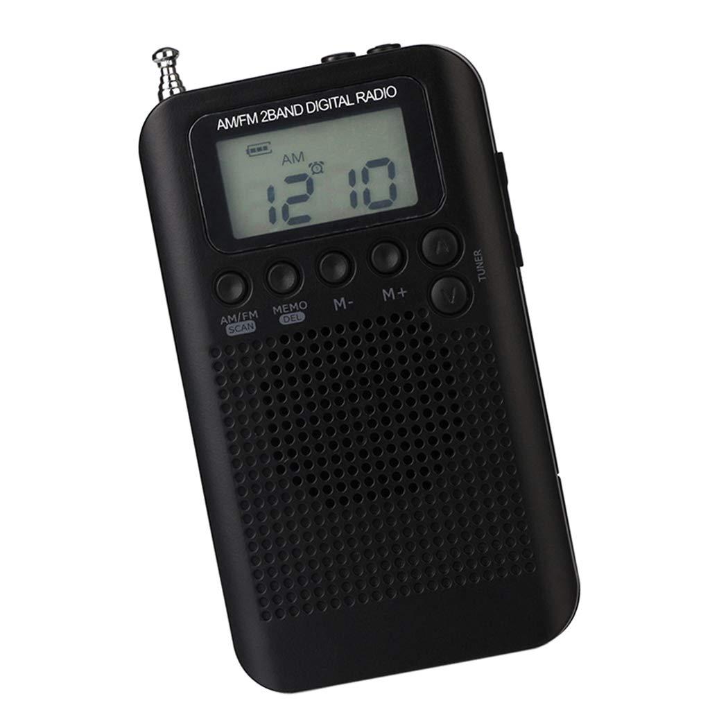 Baoblaze Portátil Radio de Onda Corta Am/FM Transistor Recoder con Reproductor de MP3 - Negro