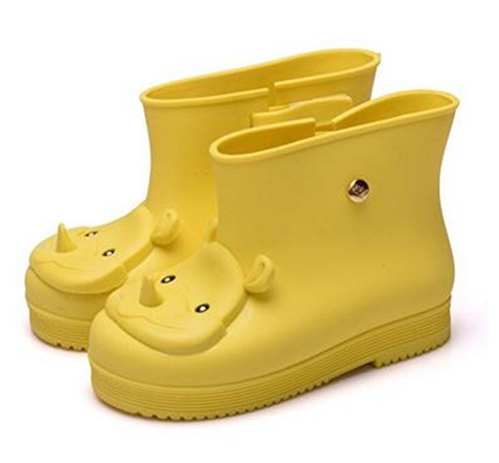 iFANS Rhinoceros Kids Girls Rain Boots Rubber Boys Snow Jelly Shoes Children