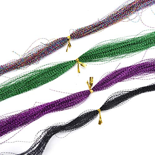 - Fishing-Accessories - 1 pc (100 roots) Pearl Sparkle Flash Crystal Tinsel Fly Tying Material Saltwater Streamer Bait Fish Lure