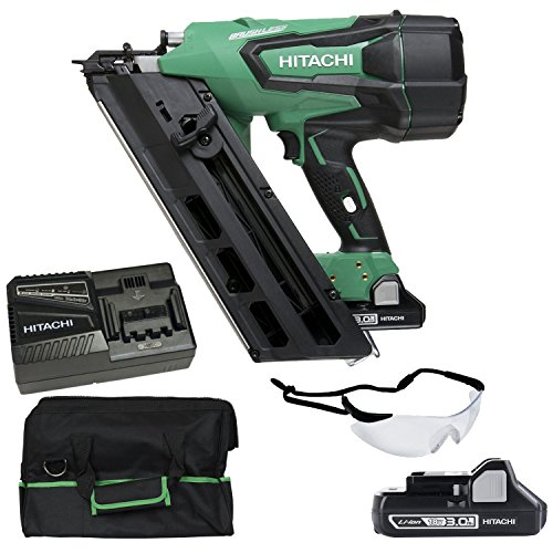 "Hitachi NR1890DC 18V Cordless Brushless 3-1/2"" Paper Strip Framing Nailer"