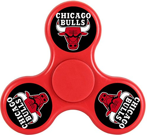 THinL Red Chicago 12 Fidget Spinner Hand Bulls Spinning Top Focusing Toys High Speed Durable Bearing Stress Reducer for Relaxation ADD ADHD Anxiety for Adult (Chicago Halloween Ball 2017)