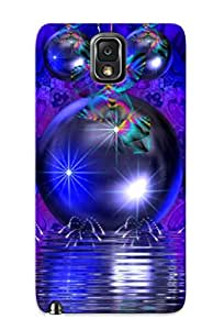 Slim Fit Tpu Protector Shock Absorbent Bumper Blue Xmas Gadgets Case For Galaxy Note 3