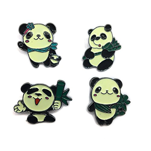 MeliMe Funny Enamel Brooch Pin Set Cute Cartoon Brooches Lapel Pins Badge for Kids Children Jean Backpack Clothes Decoration (Style 4)