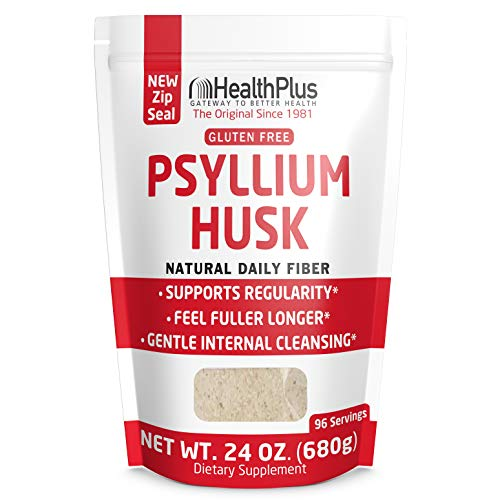 Health Plus Psyllium Husk – Weight Management – Detox, Natural Daily Fiber (24 Ounces, 96 Servings)
