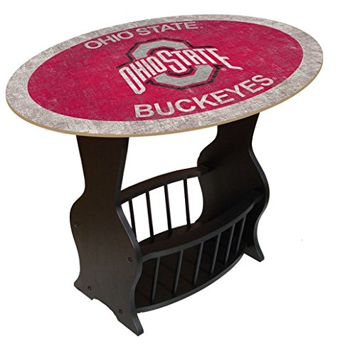 Fan Creations C0818-Ohio State Ohio University Distressed Logo End Table with Team Color (State University Desk)