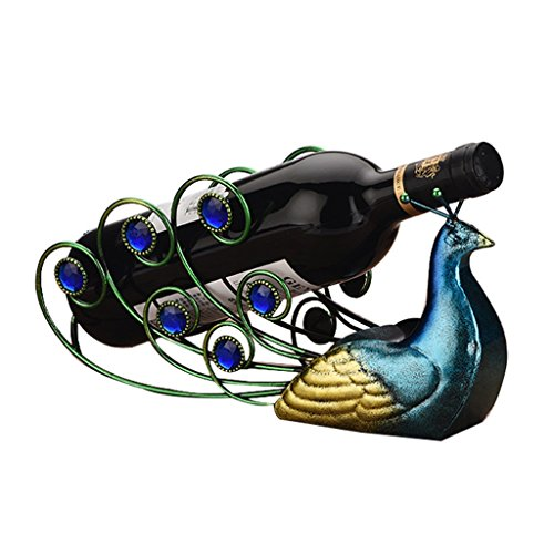 He Xiang Firm Creative wine rack personalized iron bottle rack home retro wine rack display by He Xiang Firm