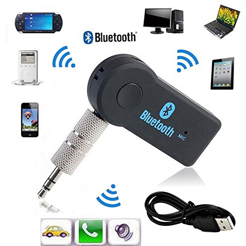 Kextech Car Bluetooth Music Receiver With Hands Free Function: Bluetooth Music Audio Stereo Adapter Receiver For Car 3