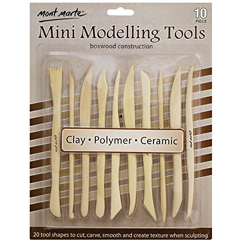 Mont Marte Boxwood Mini Clay Modeling Tool Kit