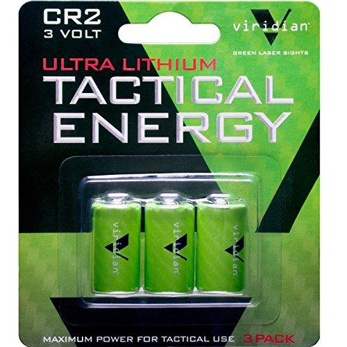 Viridian CR2 3 Volt Lithium Battery, 3-Pack (Cr2 3v Lithium Battery)