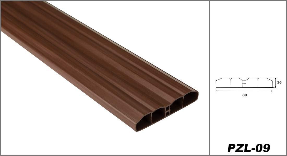 widerstandsf/ähiges Hart-PVC Zaunlatten Sparpaket PZL-09 braun klassisch 40 Meter pflegeleicht Balkonbretter 80 x 16 mm Kunststoffzaun Hexim