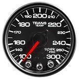 Auto Meter P34232 Gauge, Trans Temp, 2 1/16'', 300ºf, Stepper Motor W/Peak & Warn, Blk, Spek-Pro