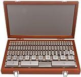 Mitutoyo Steel Square Gage Block Set, ASME Grade AS-1, 0.101 - 0.109'' Length (36 Blocks)